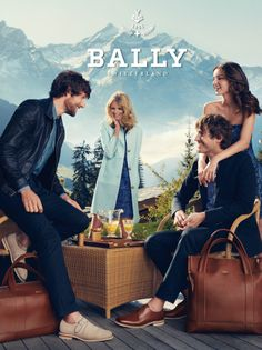 Ad Campaign: Bally Season: Spring/Summer 2012 Models: Julia Stegner and Miranda Kerr (male models: Cedric Bihr and Robert Konjic) Photography: Norman Jean Roy Only Fashion, Love Fashion, Julia Stegner, Norman Jean Roy, Stylish Couple, Classy Chic, Australian Fashion, Business Outfits, Business Clothes