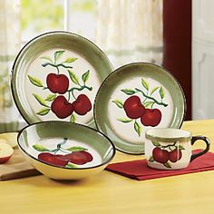 16-Piece Apple On Branch Dinnerware from Ginny's ® | ZD71534