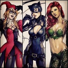 Harley, Catwoman and Poison Ivy Gotham City Sirens Catwoman, Batgirl, Gotham City, Hq Marvel, Marvel Dc Comics, Gi Joe, Joker Und Harley Quinn, Gotham Girls, Im Batman