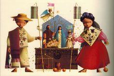 _ESTETISMOS_: Alejandro Rangel Hidalgo (1923-2000). Pintor de la inocencia. Mexican Christmas, Mexican Style, Tis The Season, Folk Art, Fantasy Art, Santa, Xmas, Seasons, Drawings