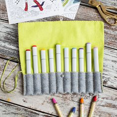 Handcrafted lifestyle expert Lia Griffith shows you how to make a DIY felt marker pouch, perfect for keeping your art supplies organized and ready to use!