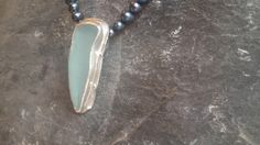 1389 Seafoam Long Blueish Pendant – Roche Designs