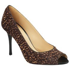 Longchamp -Le Pliage Patch Exotic Open-toe pumps.  Say Yes!!!