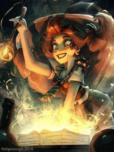 арт девушка,красивые картинки,helgesonart,Witch