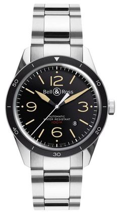 BR 123 Sport Heritage -Black-Steel Bell & Ross Vintage BR-123 Men's Watch