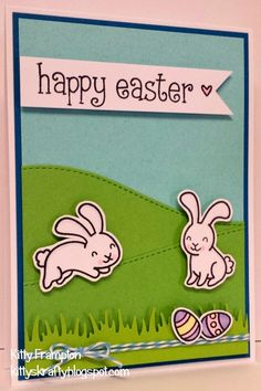 Made for Crafts Beautiful Magazine using Lawn Fawn Happy Easter Stamps.