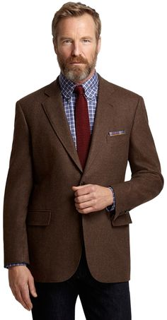 $249, Dark Brown Wool Blazer: Brooks Brothers Madison Fit Brown Twill Sport Coat. Sold by Brooks Brothers. Click for more info: http://lookastic.com/men/shop_items/208218/redirect