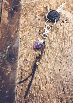 Adina Amethyst Keychain