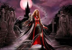 Blood Moon - Anne Stokes I think its a Vampire I'm not sure!