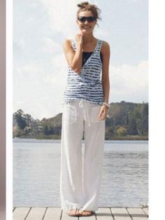 White linnen trousers