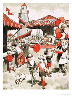 The fair coming to town or village was a big event for us kids Human Figure Sketches, Figure Sketching, Figure Drawing, Perspective Drawing Lessons, Perspective Sketch, Art Village, Elementary Drawing, Composition Painting, Indian Art Paintings