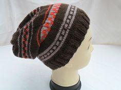 Hat Slouch Beanie Fair Isle Style £12.00
