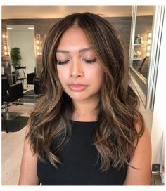 Hair Color Asian, Ombre Hair Color, Hair Color Balayage, Brown Hair Colors, Haircolor, Balayage Asian Hair, Bronde Balayage, Balayage On Short Hair, Asian Ombre Hair