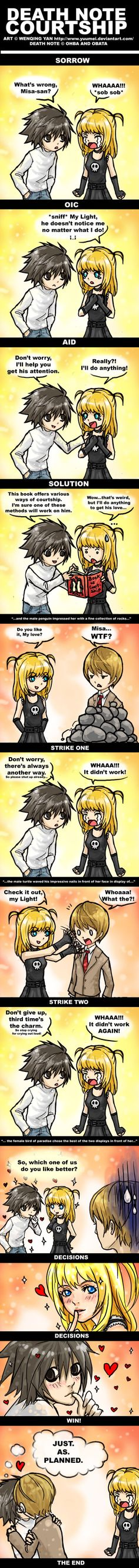 Death Note Courtship by yuumei