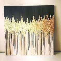 gold leaf abstract art gold leaf abstract acrylic painting how to how to make diy gold leaf abstract art love this Gold Leaf Art, Gold Art, Abstract Acrylic Paintings, Gold Leaf Paintings, Acrylic Art, How To Abstract Paint, Abstract Art, Gold Drawing, Painting & Drawing