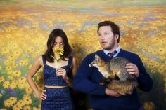 Aubrey Plaza and Chris Pratt in Parks and Recreation. One of the best couples on television