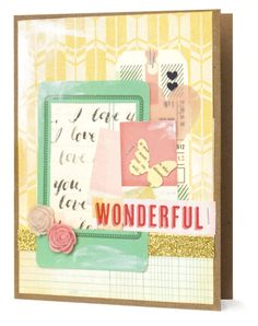 A 'Wonderful' Card idea using the Style Board Collection