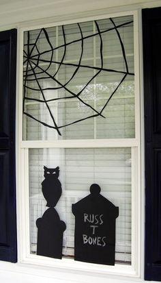 studio 5 showed how to create original halloween window decor using black vinyl and clipart - Halloween Window Decals