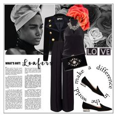 """""""Loafers"""" by frenchfriesblackmg ❤ liked on Polyvore featuring Yves Saint Laurent, Miss Selfridge, John Lewis, Noir, Givenchy and Nicholas Kirkwood"""