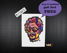 Rap poster Declaime aka Dudley Perkins, Unique gift for hip hop lovers, Hip hop art,hip hop art collection, rap posters, Music art,