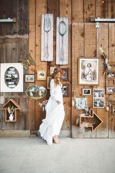 Unique rustic wedding inspiration