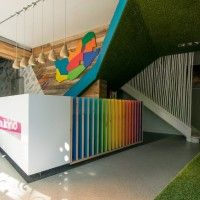Office & Workspace, Human Kind Office with Colorful and Creative Decoration : Pp 200213 03 Corporate Office Design, Office Interior Design, Office Interiors, Work Cafe, Reception Desk Design, Counter Design, Timber Cladding, Commercial Interiors, Creative Decor