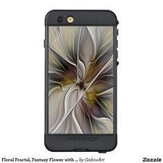 Floral Fractal, Fantasy Flower with Earth Colors LifeProof® NÜÜD® iPhone 6s Plus Case