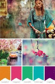 bohemian color palette - Google Search