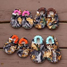 Cute and Colorful Camo Baby Booties