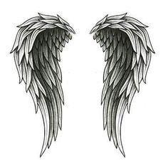 wings   angel wings tattooed on back angel wings tattoo cute cross symbol and ...