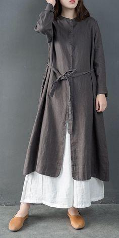 Vintage Loose Cotton Linen Long Shirt Women Casual Blouse is part of Casual shirt women - Abaya Fashion, Muslim Fashion, Fashion Dresses, Fashion Fashion, Womens Fashion, Fashion Styles, Fashion Boots, Fashion Trends, Linen Dresses