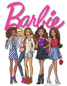 2016 Vintage and Mod / 2009 - Present Barbie Name Logo and Barbie and Friends Sketch Barbie Painting, Barbie Drawing, Barbie Theme Party, Barbie Birthday, Pintar Disney, Barbie Cartoon, Barbie Coloring Pages, Barbie Images, Bff Drawings