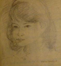 My portrait (Ionela) made by Marghita Namnescu, my first drawing teacher - Bucharest 1985 Bucharest, Teacher, Portrait, Drawings, Art, Art Background, Professor, Headshot Photography, Teachers