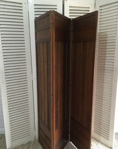 Victorian Dressing Screen divider with gorgeous panelling. Preloved Vintage & Contemporary Furniture -  www.lovinglymadeltd.co.uk