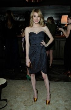 Emma Roberts wearing the Romanie Dress from the Spring Summer 2011 collection, at the Tommy Hilfiger Cocktails, in LA.