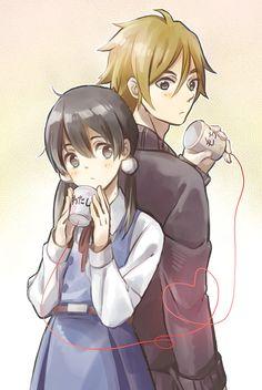 Tamako Market / Tamako Love Story | Kyoto Animation / Kitashirakawa Tamako and Ooji Mochizou / 「ふたりの恋」/「lirio」のイラスト [pixiv]