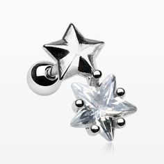 Nova Star Sparkle Cartilage Tragus Barbell
