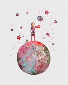 Little Prince Watercolor Art