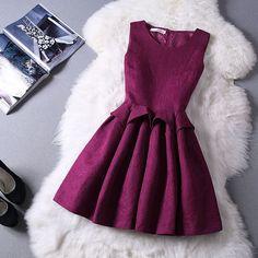 Slim round neck sleeveless princess dress 91409 · Fashion designer · Online Store Powered by Storenvy Pretty Dresses, Beautiful Dresses, Jw Mode, Dress Outfits, Fashion Dresses, Dress Clothes, Short Dresses, Girls Dresses, Mein Style