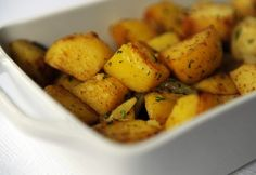 Roasted Curried Potatoes With Sweet Onion