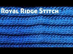 Crochet Royal Ridge Stitches - Free Dishcloth Pattern