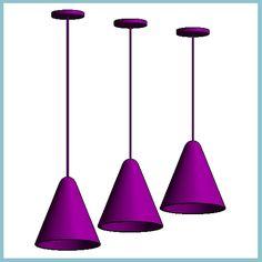 Nordlux JIVE Retro Purple Pendant Light (Autodesk Revit Architecture 2012 Families) - urBIM Revit Components
