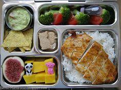 Bento-Mania.....verrückt nach der japanischen Lunch Box: Planetbox- Lunch: Gegrillte Hühnchenbrust mit Reis