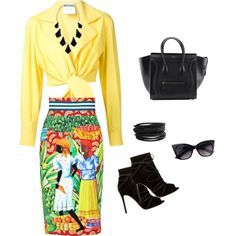 summer 2015 by katasecret on Polyvore featuring polyvore fashion style Moschino Stella Jean Gianvito Rossi Kendra Scott Pieces