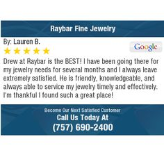 Drew at Raybar is the BEST! I have been going there for my jewelry needs for several...
