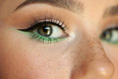 Patrick's Day Makeup Ideas You'll Actually Want to Wear St. Patrick's Day makeup ideas – green liner to make eyes stand out - Das schönste Make-up Cool Makeup, Gorgeous Makeup, Makeup Inspo, Makeup Inspiration, Makeup Tips, Makeup Looks, Makeup Ideas, Perfect Makeup, Makeup Products