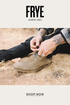 Shop handcrafted leather boots for men, including classic styles from Frye. Mens Boots Fashion, Mens Fashion Blog, Latest Mens Fashion, Fashion Socks, Golf Fashion, Sneakers Fashion, Leather Men, Leather Boots, Lycra Men