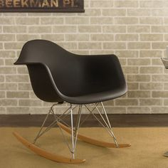 Wholesale Interiors Charlie Rocking Chair in Black.