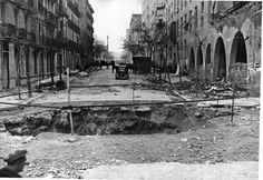 Calle Hilarión Eslava durante la Guerra Civil.