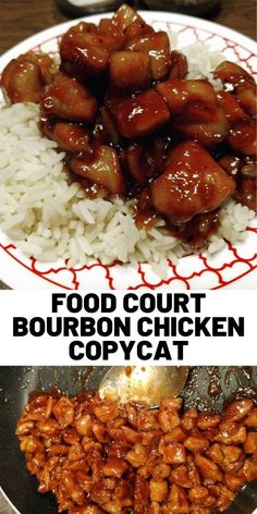 Heres Food Court Bourbon Chicken Copycat Recipe. The post Food Court Bourbon Chicken Copycat Recipe appeared first on Tasty Recipes. Bourbon Chicken Recipe Easy, Easy Chicken Recipes, Asian Recipes, Chinese Food Recipes Chicken, Chinese Meals, Oriental Recipes, Copycat Recipes, New Recipes, Favorite Recipes